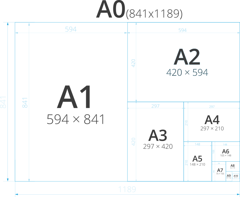Paper size and dimensions anatomy